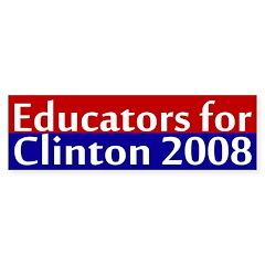 Educators for Clinton bumper sticker