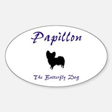 Butterfly Dog Oval Decal