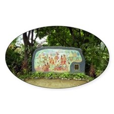 Nayong Pilipino Mural Oval Decal