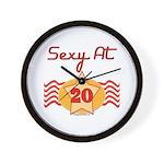 Sexy At 20 Wall Clock