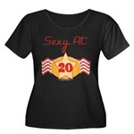 Sexy At 20 Women's Plus Size Scoop Neck Dark T-Shi