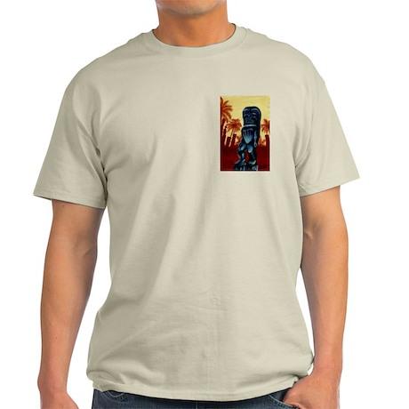 """Hawaiian Tiki god Ku""-Ash Grey T-Shirt"