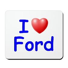 I Love Ford (Blue) Mousepad