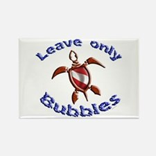 Leave only bubbles Rectangle Magnet
