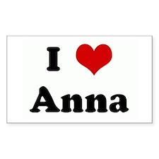 I Love Anna Rectangle Decal