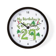 Leap Year Birthday Feb. 29th Wall Clock