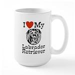I Love My Labrador Retriever Large Mug