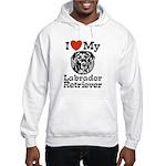 I Love My Labrador Retriever Hooded Sweatshirt