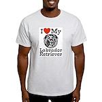 I Love My Labrador Retriever Ash Grey T-Shirt