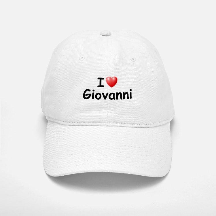 I Love Giovanni (Black) Baseball Baseball Cap