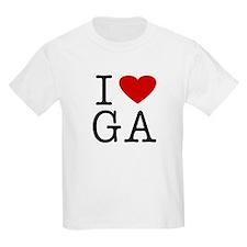 I Love Georgia (GA) Kids T-Shirt