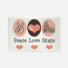Peace Love Skate Ice Skating Magnet 10 Pack