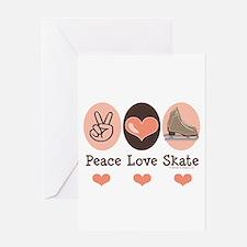 Peace Love Skate Ice Skating Greeting Card