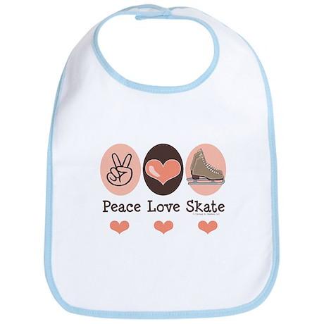 Peace Love Skate Ice Skating Bib