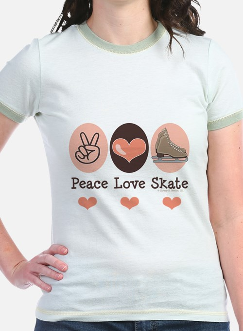 Peace Love Skate Ice Skating T