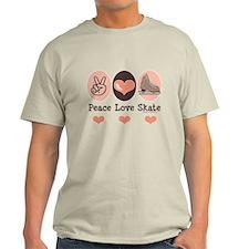 Peace Love Skate Ice Skating T-Shirt