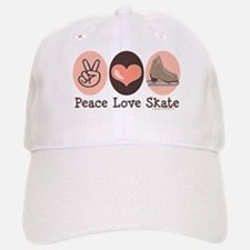 Peace Love Skate Ice Skating Baseball Baseball Cap