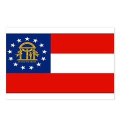 Georgia Georgian Blank Flag Postcards (Package of