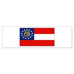 Georgia Georgian Blank Flag Bumper Bumper Sticker