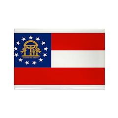 Georgia Georgian Blank Flag Rectangle Magnet (100