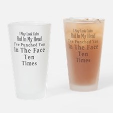 Cute May the mass times acceleration be with you Drinking Glass