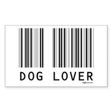 Dog Lover Barcode Rectangle Decal