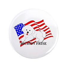 """Bichon Frise USA 3.5"""" Button"""