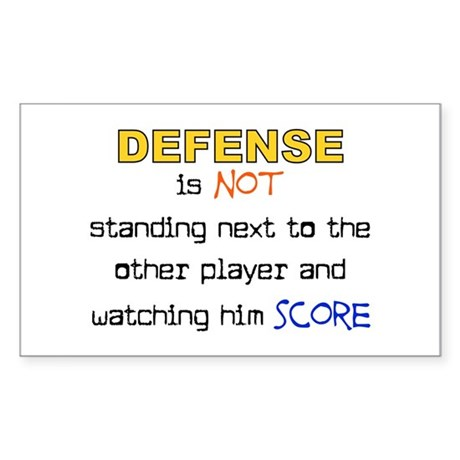Message for the Defense Rectangle Sticker