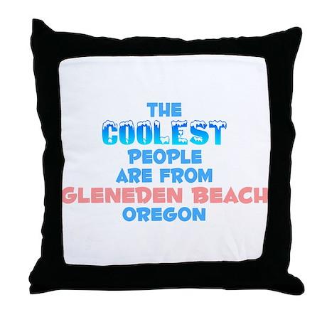 Coolest: Gleneden Beach, OR Throw Pillow