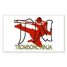 Trombone Ninja Rectangle Decal