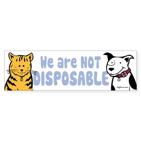 We Are Not Disposable Bumper Sticker