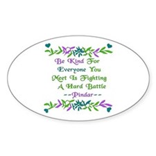 Be Kind Pindar Quote Oval Decal