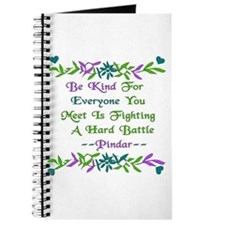 Be Kind Pindar Quote Journal