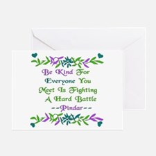 Be Kind Pindar Quote Greeting Card