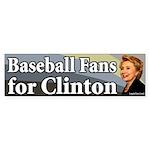 Baseball Fans for Clinton bumper sticker