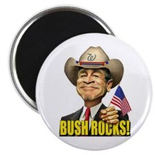 "Bush Rocks! 2.25"" Magnet (100 pack)"