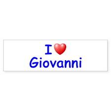 I Love Giovanni (Blue) Bumper Bumper Sticker
