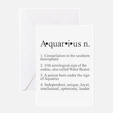 Astrology Zodiac Aquarius Greeting Card