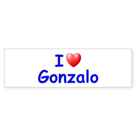 I Love Gonzalo (Blue) Bumper Sticker