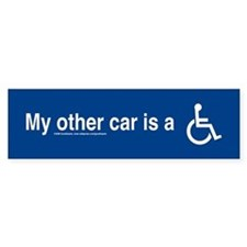 My Other Car is a Wheelchair Bumper Bumper Sticker