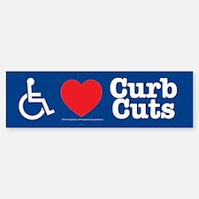 I Love Curb Cuts Bumper Bumper Bumper Sticker
