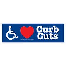 I Love Curb Cuts Bumper Car Sticker