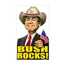 Bush Rocks! Rectangle Decal