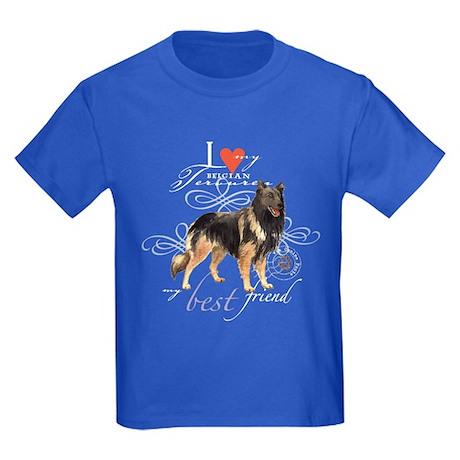 Belgian Tervuren Kids Dark T-Shirt