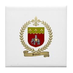SONIER Family Crest Tile Coaster