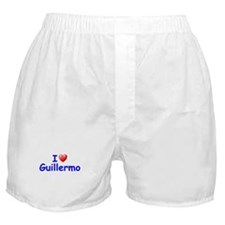 I Love Guillermo (Blue) Boxer Shorts