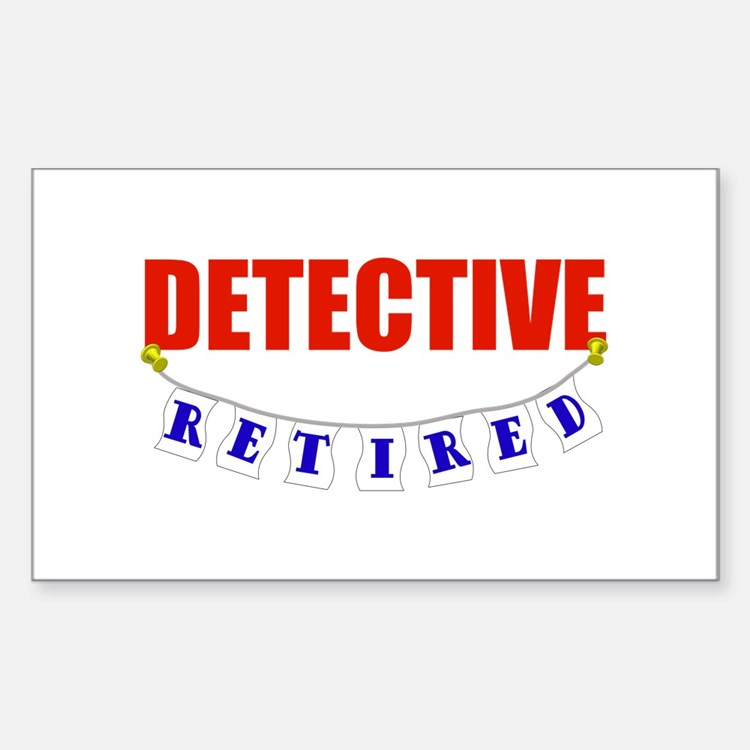 Retired Detective Rectangle Decal