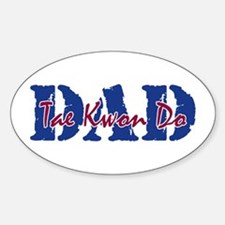 Tae Kwon Do DAD Oval Decal