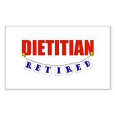 Retired Dietitian Rectangle Decal