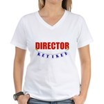 Retired Director Women's V-Neck T-Shirt